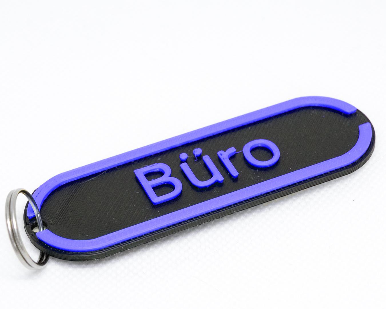 Sittertaler Schlüsselanhänger, individuell beschreibbar, blau