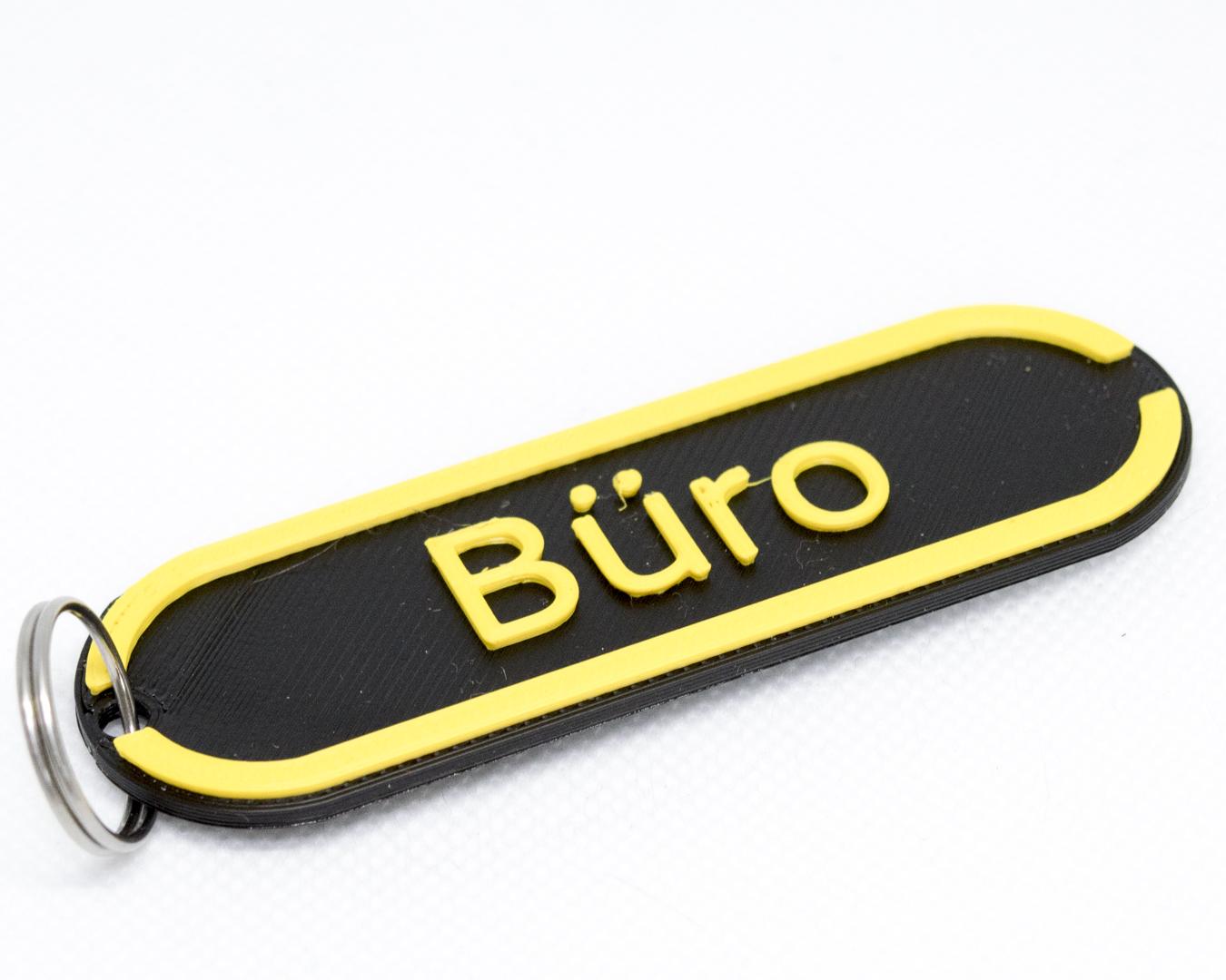 Sittertaler Schlüsselanhänger, individuell beschreibbar, gelb
