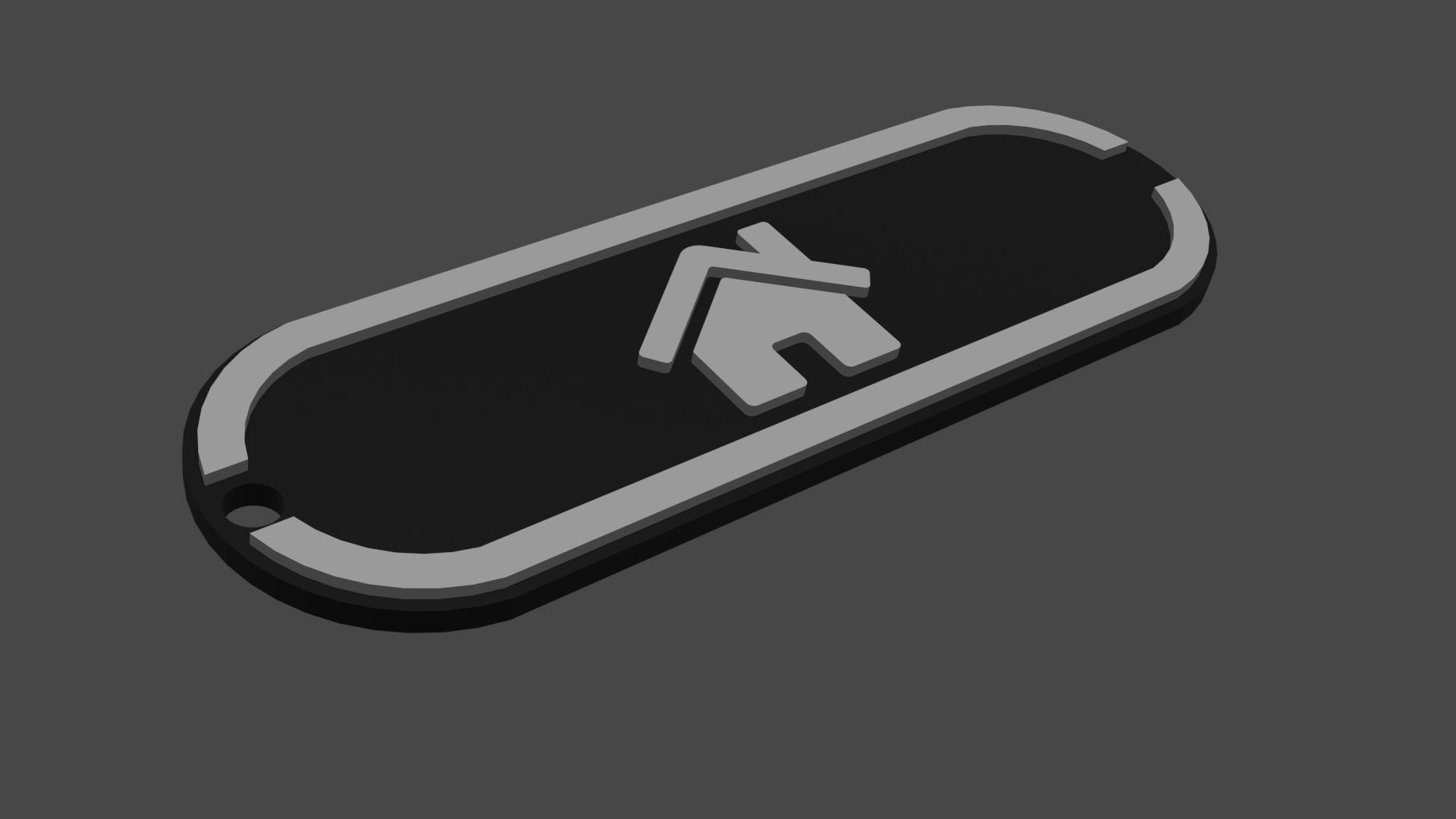 Sittertaler Schlüsselanhänger, individuell beschreibbar, weiss