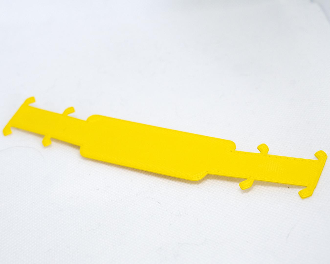 Sittertaler Mask Straps, einfarbig ohne Aufschrift, gelb