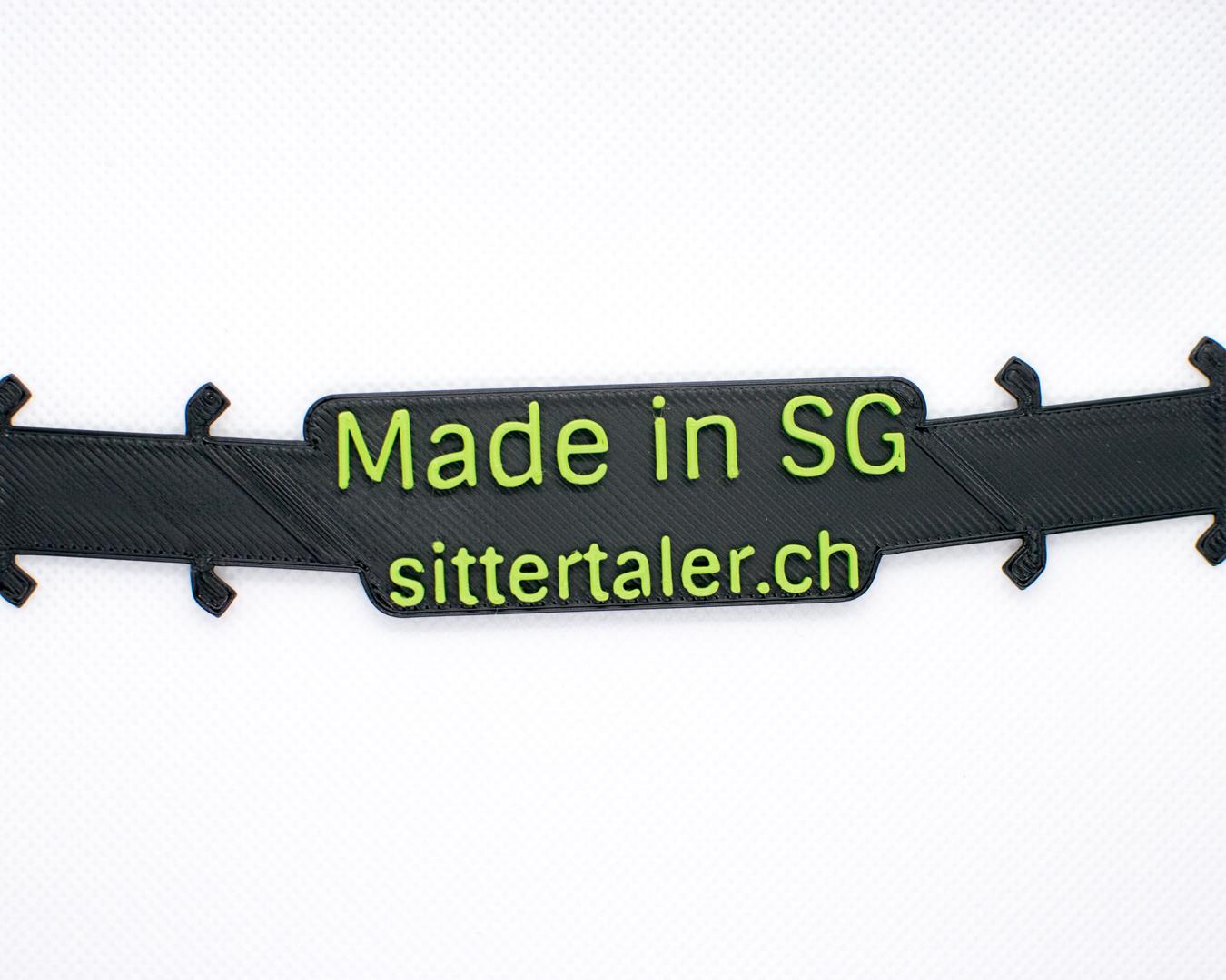 Sittertaler Mask Straps, zweifarbig, Schwarz/Grün