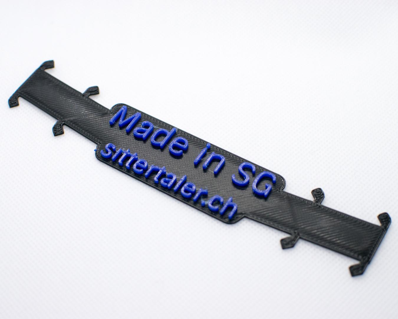 Sittertaler Mask Straps, zweifarbig, Schwarz/Blau