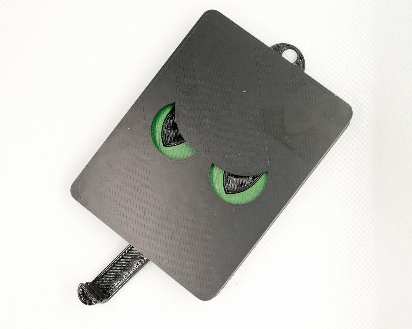 Schlüsselbrett 'Böse' moosgrün