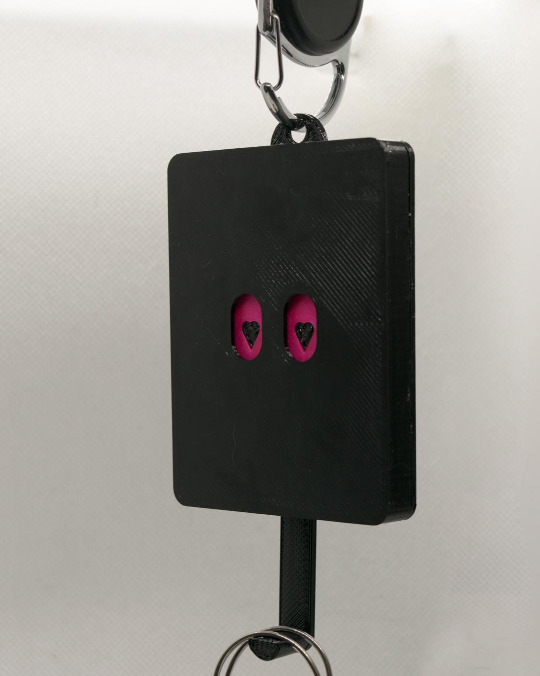Schlüsselbrett, Keyguard, Rosa/Pinke Augen mit Herzchen