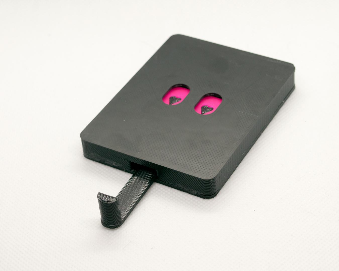 Schlüsselbrett 'Herz' pink