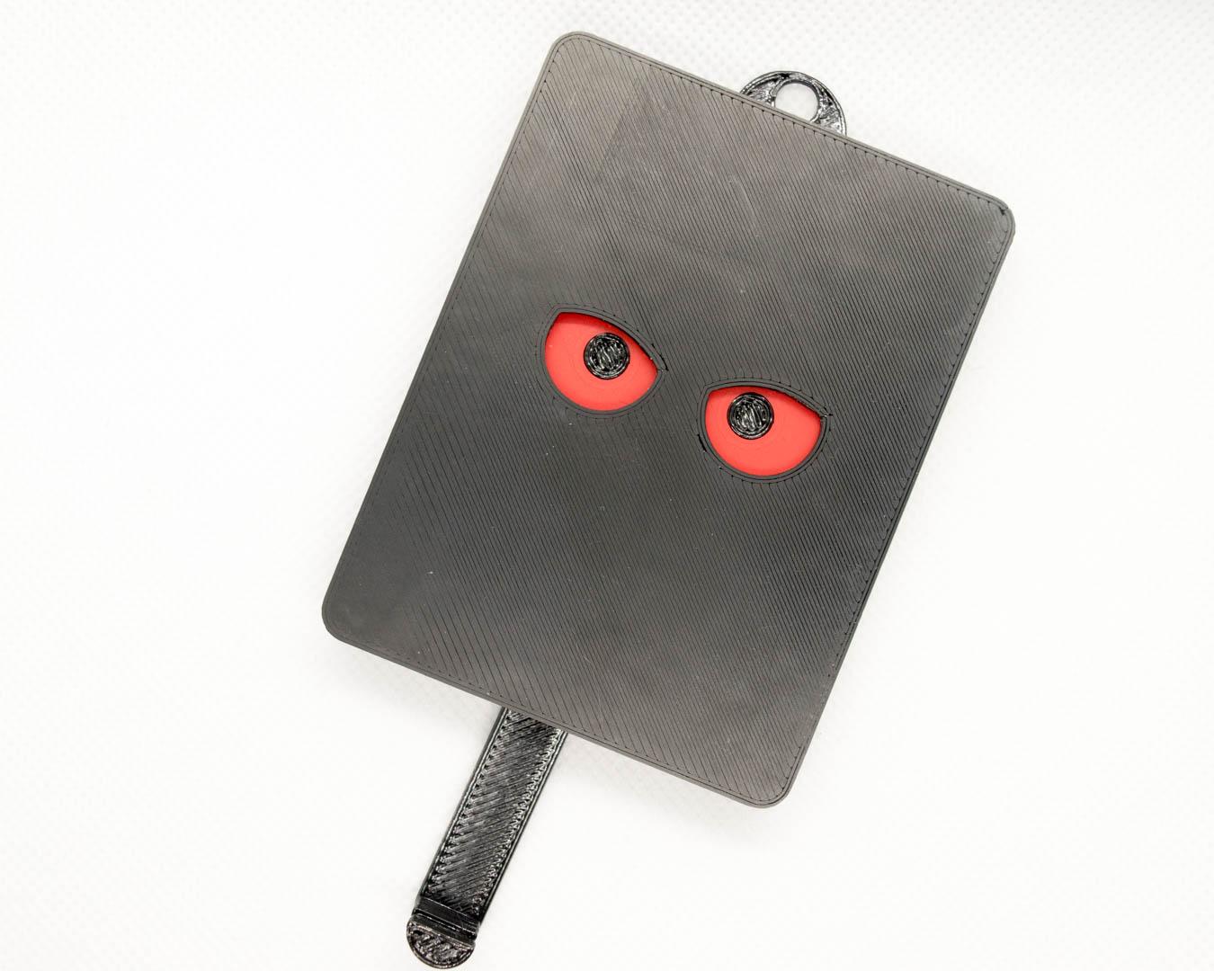 Schlüsselbrett 'Eule' rot