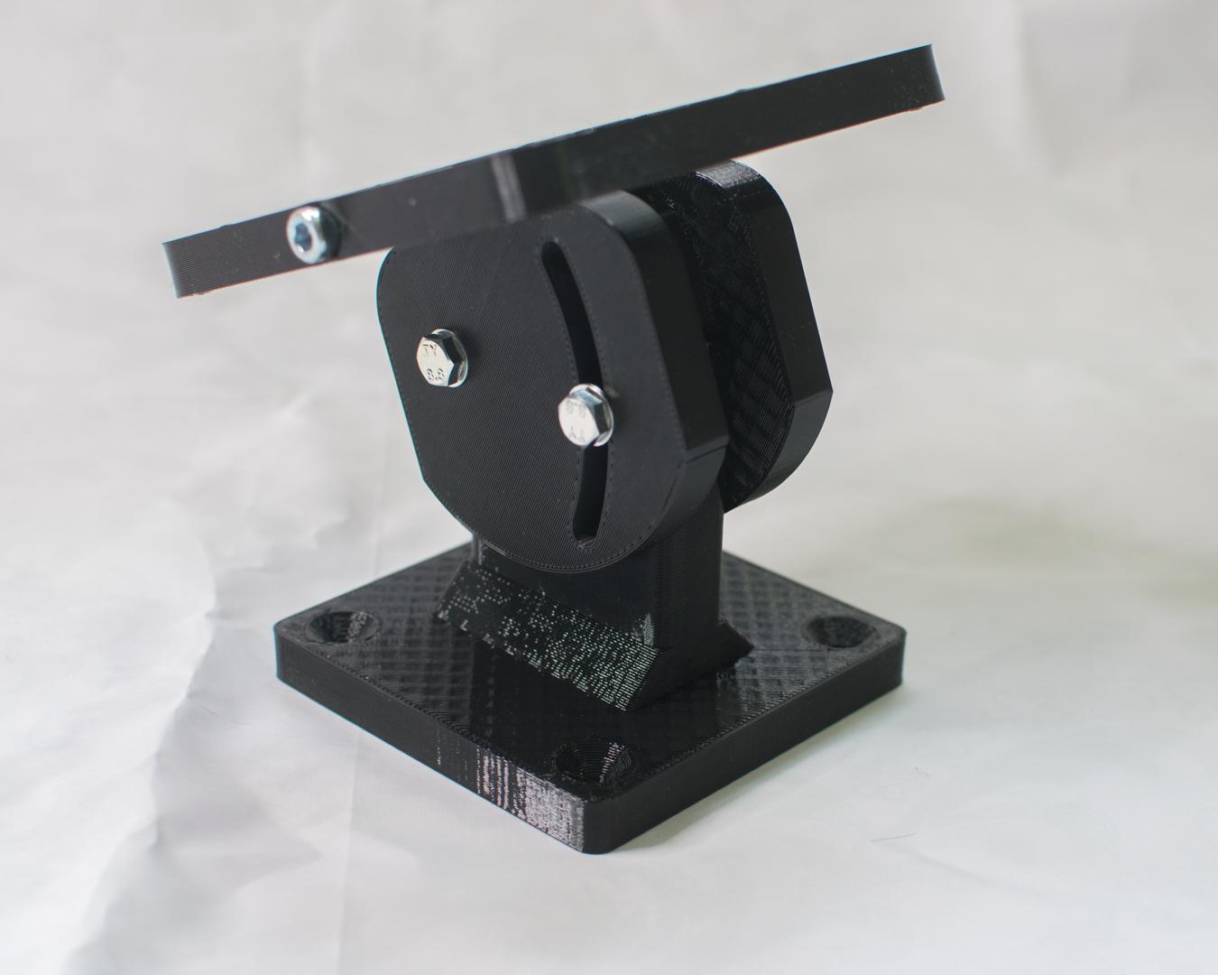 3D-gedruckte Halterung nach VESA Standard, Schwarz aus PETG