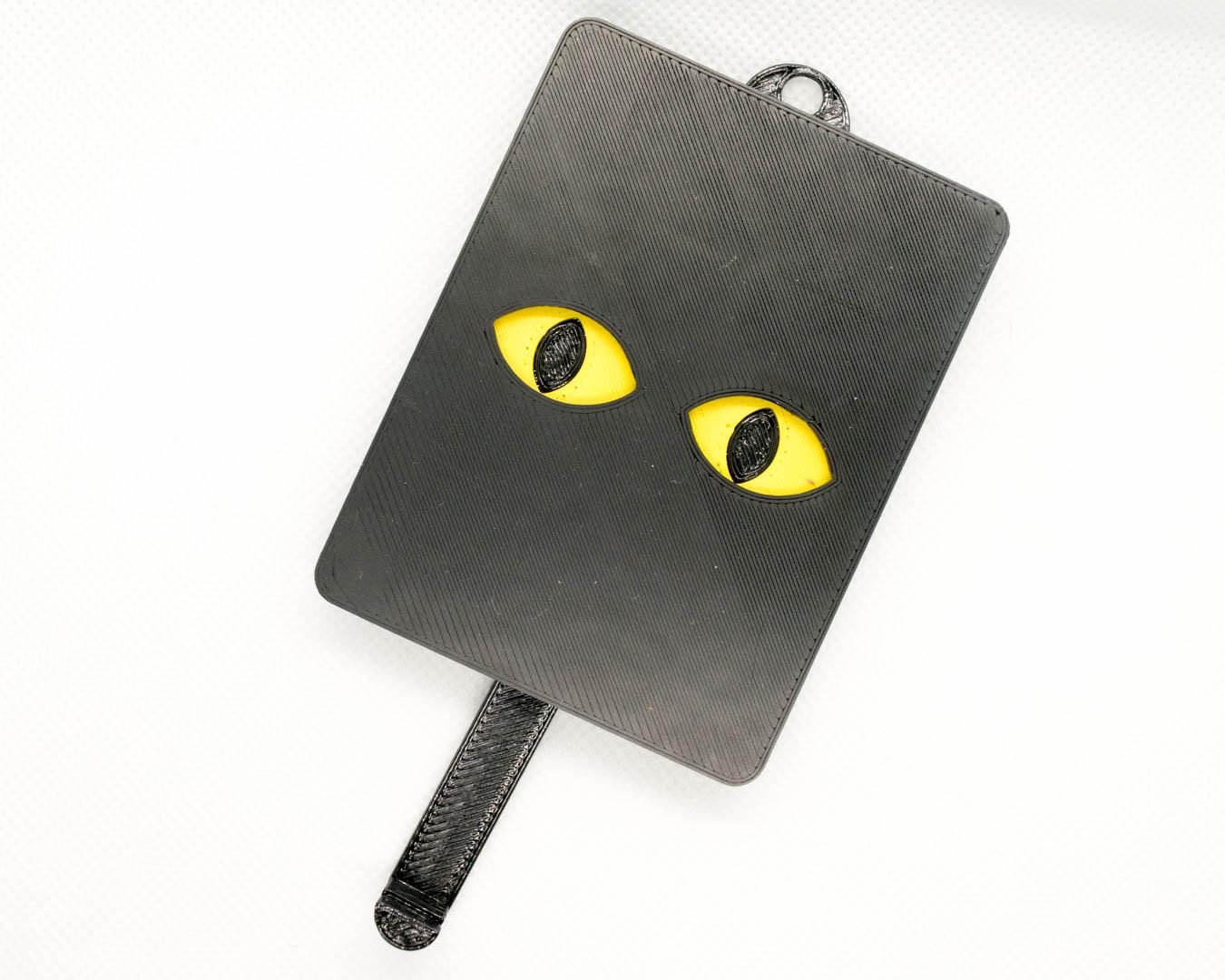 Schlüsselbrett 'Katze' gelb